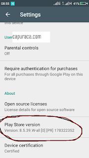 Cara update Google Play Store untuk mengatasi tidak bisa download aplikasi