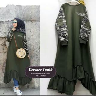 Jual Baju Atasan Muslim Wanita Versace Tunik