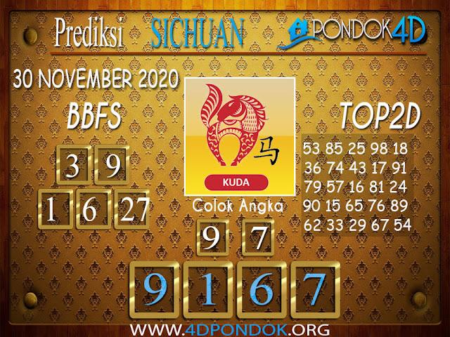 Prediksi Togel SICHUAN PONDOK4D 30 NOVEMBER 2020