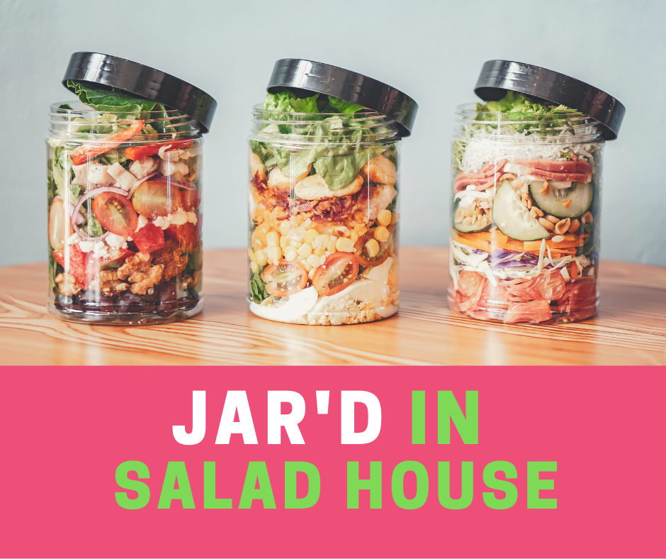Healthy Food On-the-Go at Jar'd In Salad House, Jardin SalaD house, salad bar, vegetable from Baguio, organic green salad