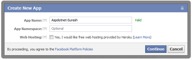 Asp net integrate Facebook login authentication to website