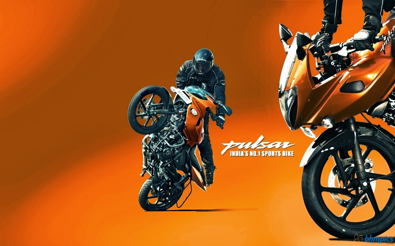 Pulsar Bikes Wallpapers Hd: GrAzY BoOk: Amazing Bike Stunt