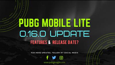 PUBG Mobile Lite 0.16.0 Update