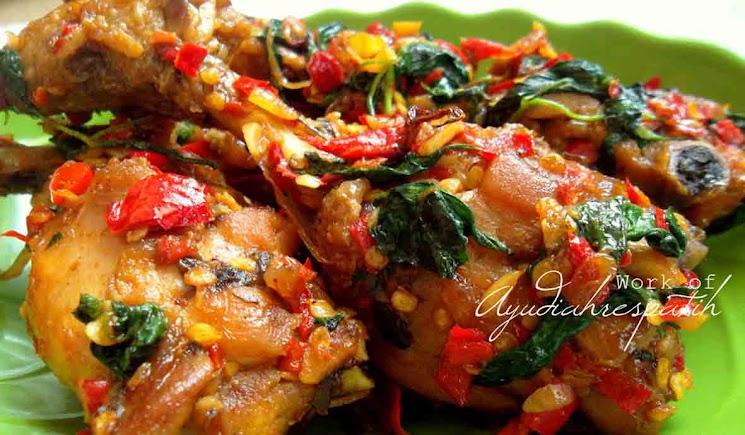 Resep Ayam Goreng Cabe Bumbu Kemangi