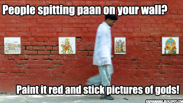 indian life hack paan spitting