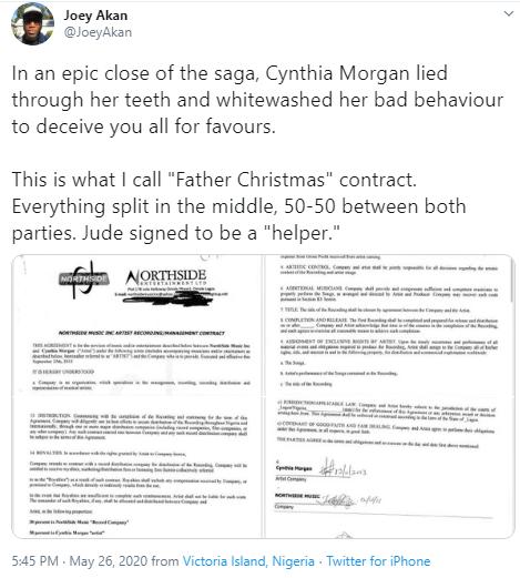 cynthia morgan news today
