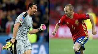 Italia vs España, Eurocopa 2016