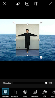 Cara ganti background foto di Android