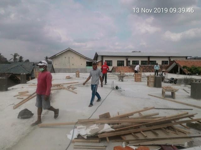 Pembangunan SMA Yasmida Ambarawa sudah sampai lantai 2