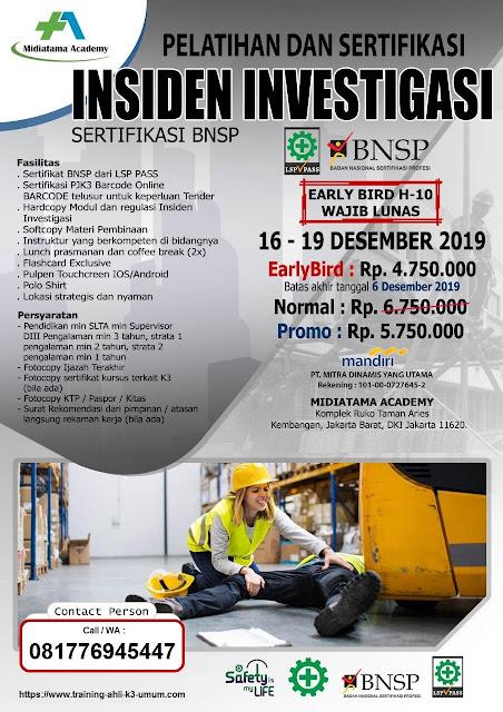 Investigasi Insiden BNSP tgl. 16-19 Desember 2019 di Jakarta