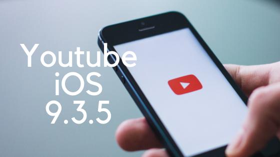 YouTube iPhone 4s iOS 9.3.5