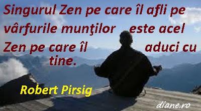 Singurul Zen pe care îl afli pe vârfurile munţilor este acel Zen pe care îl aduci cu tine