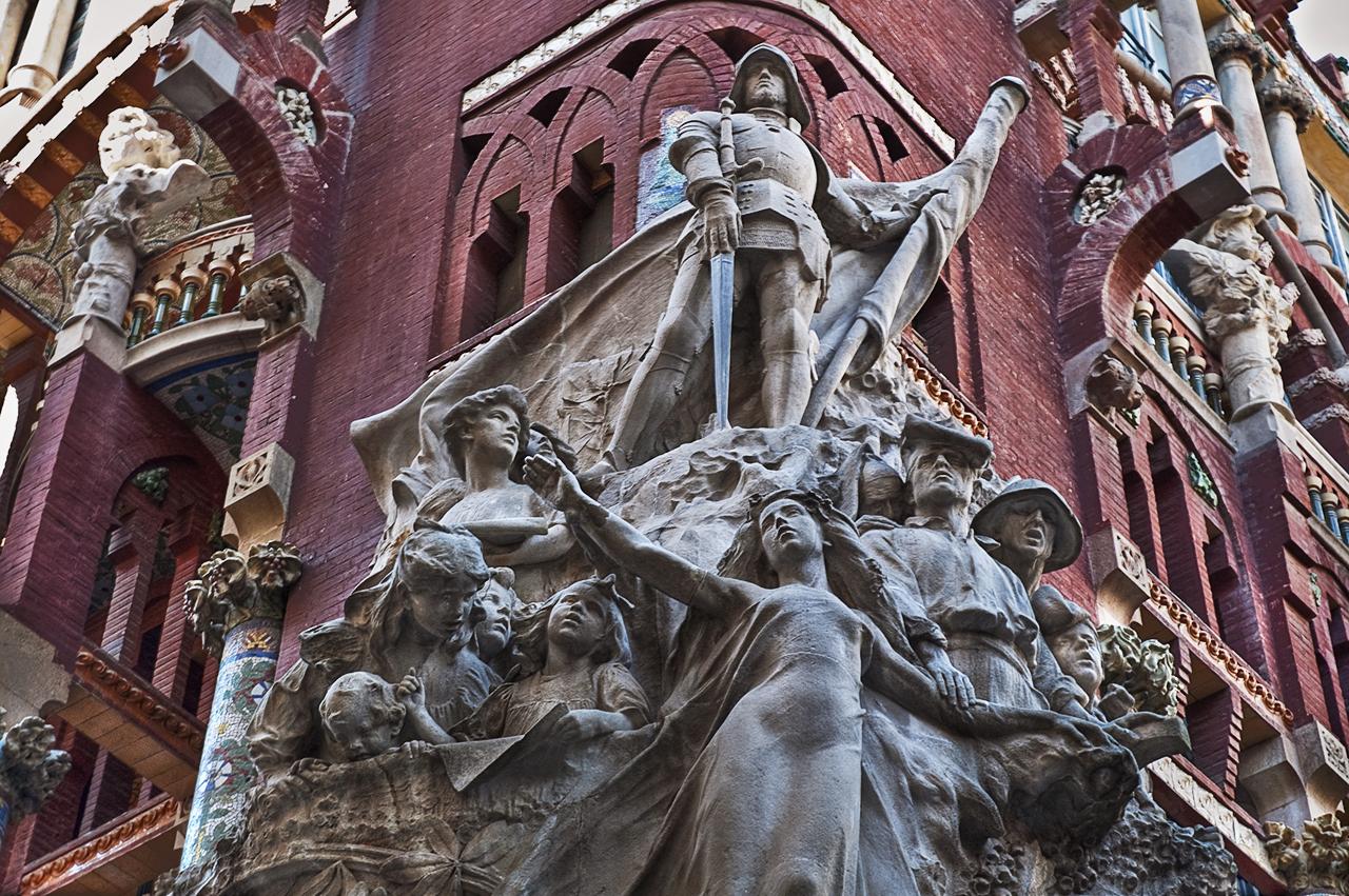 Sculptoric group Cançó Popular by Miquel Blay, Palau de la Música Catalana