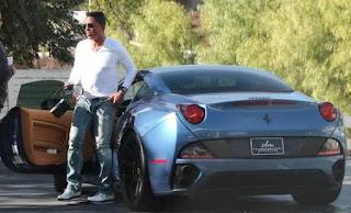 Hazel Gordy's ex-husband Jermaine Jackson coming out of car
