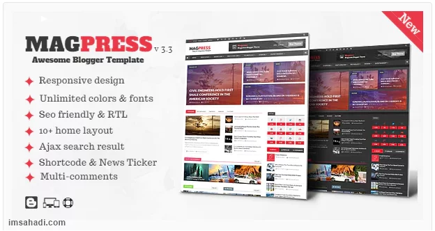 Magpress Template Blogger Magazine