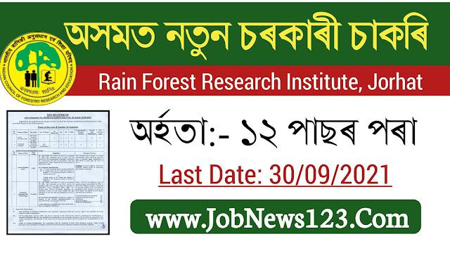 ICFRE ,Jorhat Recruitment 2021: