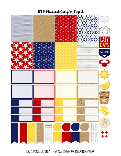 Page 2 of the ECLP Nautical Sampler on myplannerenvy.com