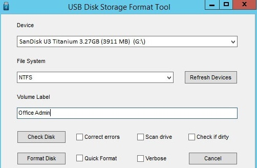 USB Disk Storage Format Tool