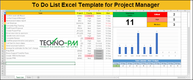 To Do List planner, to do list in excel, to do list excel