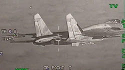 Chiến cơ F-16 của Bỉ dược điều động đánh chặn máy bay SU-27 Planker của Nga