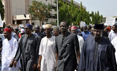 Throwback Photos Of President Buhari And Others Protesting Against Goodluck Jonathan In 2014
