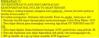 hoax tentang registrasi sim card