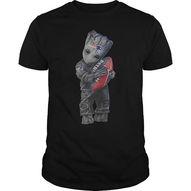 Baby Groot hug New England Patriots T Shirt Hoodie Sweatshirt