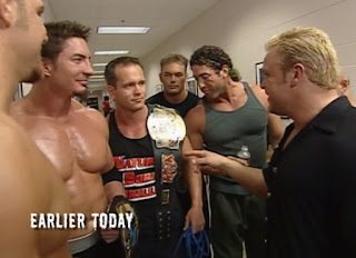 WCW Halloween Havoc 2000 - Shane Douglas talks to the Natural Born Thrillers backstage