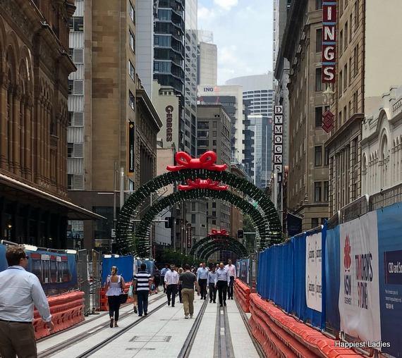 George street christmas lights 2017