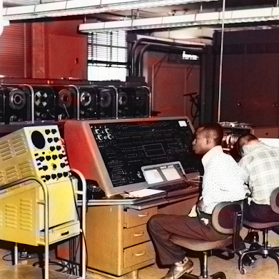 A UNIVAC computer at the Census Bureau, 1960