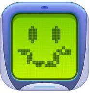Download Retro Widget 2 App (Old Nokia Snake Biting Apple Game)