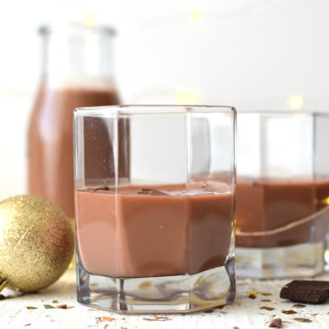 Receta para preparar ponche crema de chocolate