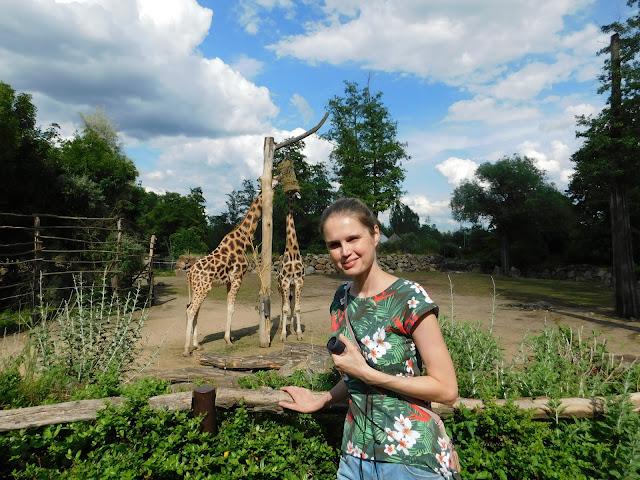 Linda v ZOO u žiraf