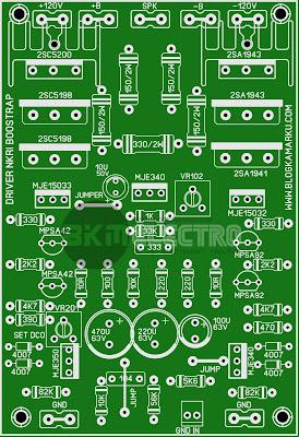 Layout PCB Driver NKRI BOOSTRAP Amplifire