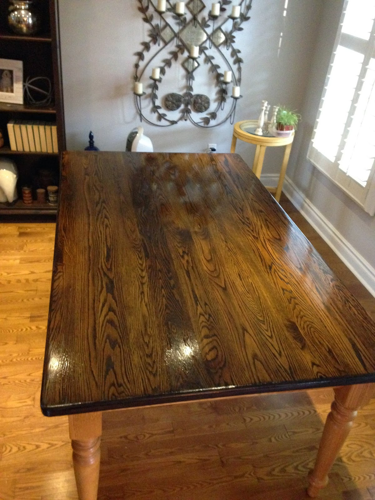 Oak Table Before  After