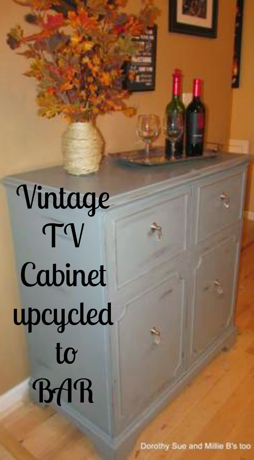 Relatively Dorothy Sue and Millie B's too: Vintage 1950's TV Cabinet UPCYCLE! FD56