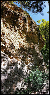 Example of Crazy looking  Naturally Cemented Together Rock Walls in Maple Canyon