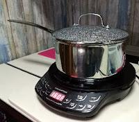 nuwave pot and lid on induction burner