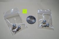 Ohrringe Vergleich mit Münze: YL Damen Doppel perlen Ohrringe 925 Sterling silber Süßwasser-Zuchtperlen Mode Ohrstecker