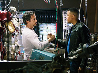 Robert Downey Jr. and Don Cheadle in Iron Man 2 movieloversreviews.filminspector.com