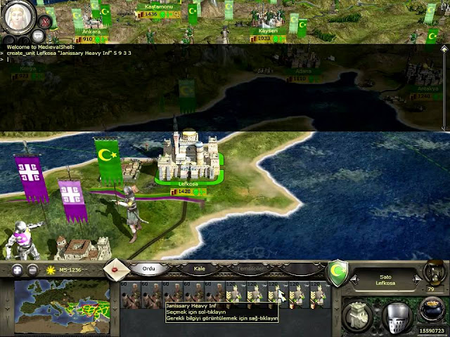 Medieval 2: Total War hileleri