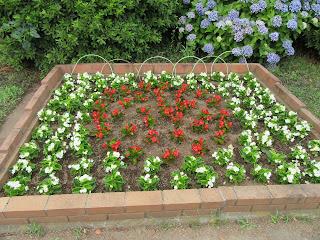 花壇ボランティア「フラワーメイト」の皆様が作った花壇です