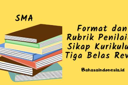 Format dan Rubrik Penilaian Sikap Kurikulum Tiga Belas Revisi