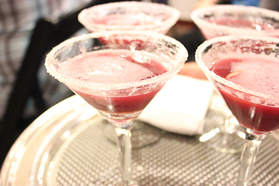 Chef Cat Cora Pomegranate Martini Cocktail Recipe (Alcoholic & Non-Alcoholic)