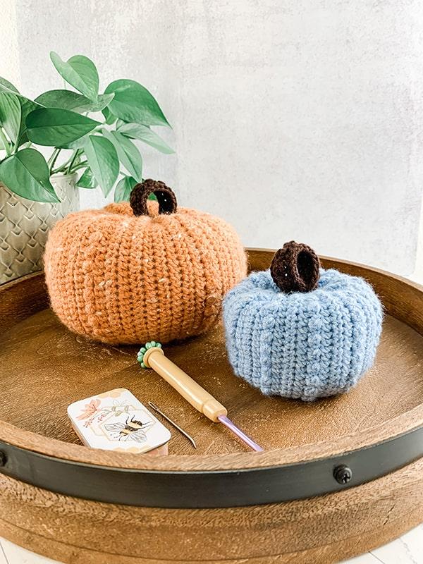 Berry Fall Pumpkin - A Free Crochet Pattern