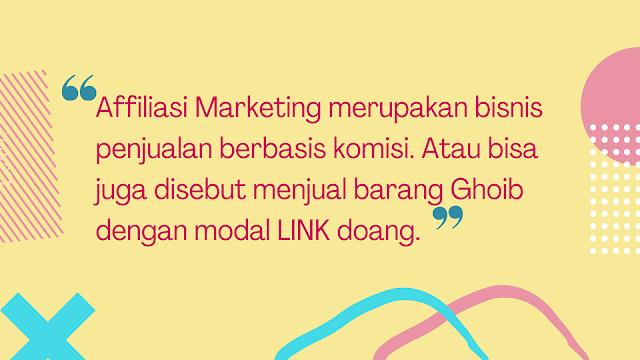 Affiliasi Marketing adalah