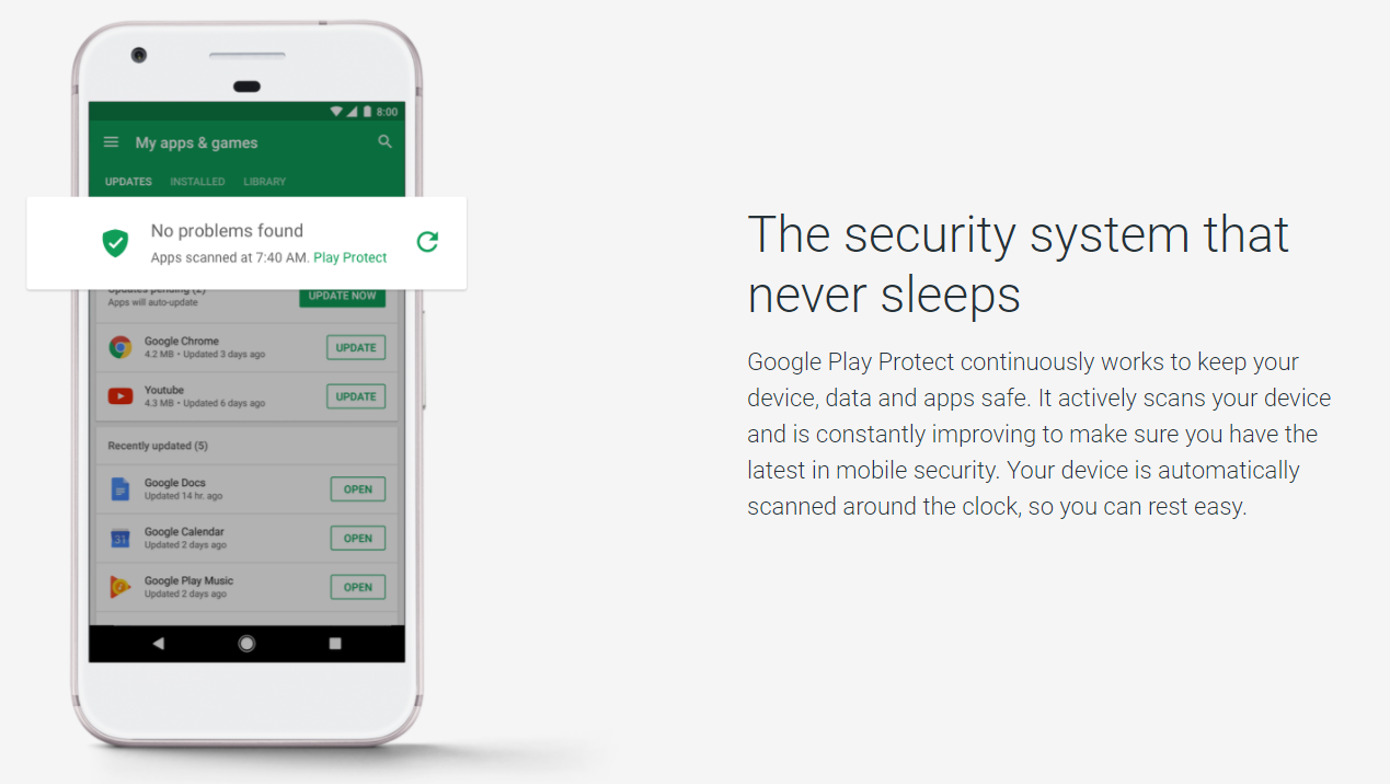 Google presenta Google Play Protect