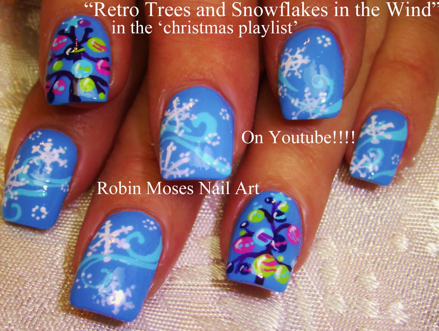 Nail Art By Robin Moses Snowflake Nails Red Nail Art Christmas