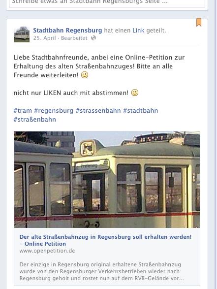 https://www.openpetition.de/petition/online/der-alte-strassenbahnzug-in-regensburg-soll-erhalten-werden