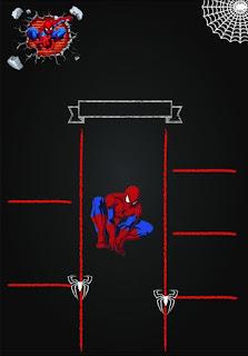 El hombre Araña: Invitaciones tipo infografía para Imprimir Gratis
